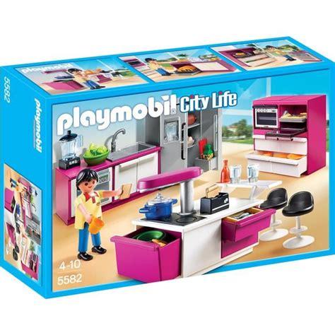 playmobil 5582 cuisine avec îlot achat vente univers miniature cdiscount