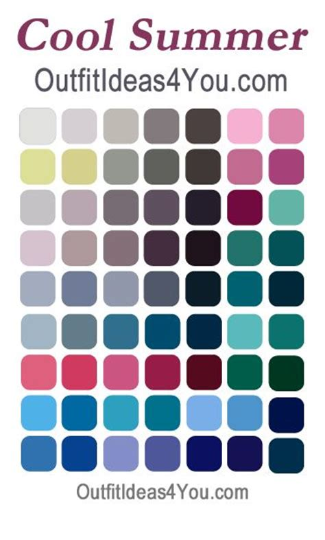 cool summer color palette 25 best ideas about cool summer on cool