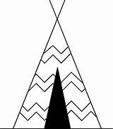 Clipart Tent Coloring Cartoon Drawing Teepee Tipi Pee Indian Tee Teepees Transparent Camping Native Triangle Tents Cherokee Sketch Webdesign Ya sketch template