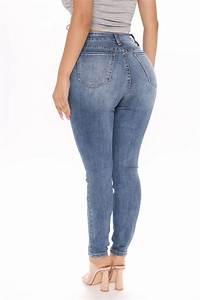 Flatter Me Always Curvy Skinny Jeans Vintage Blue Wash