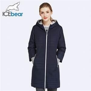 ICEbear 2017 Spring Autumn Long Cotton Women's Coats With ...