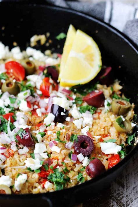 Cauliflower Fried Rice Mediterranean Style  Innocent Delight