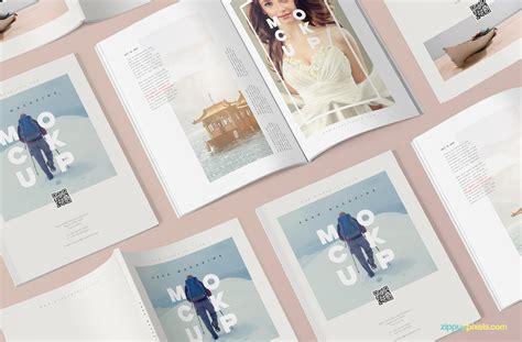 Free Magazine Mockup Creative Psd Magazine Mockup To For Free Designhooks