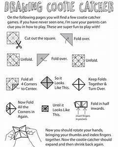 How To Play The Cootie Catcher Drawing Game