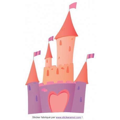 autocollant chambre fille sticker princesse chateau princesse déco chambre fille
