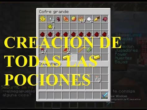 Minecraft Pociones / Alquimia crafteos YouTube