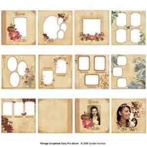 12x12 scrapbook album scrapsimple digital layout templates vintage album
