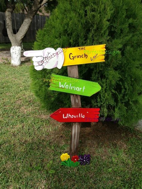 grinch sign whoville christmas yard art decoration decor