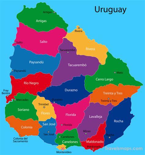 map  uruguay travelsmapscom