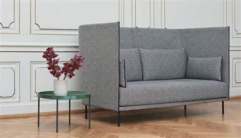 silhouette sofa high backed  seater mono hay
