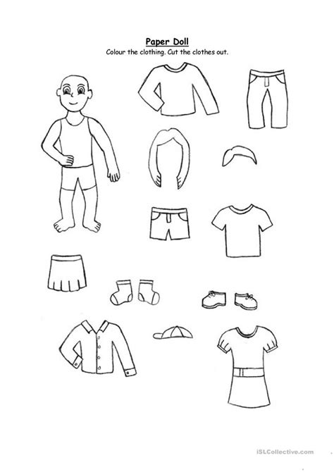 paper doll clothing   graders   english