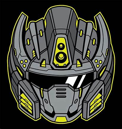 Helmet Illustrator Robot Futuristic Adobe Line Vector