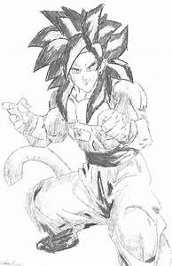 goku super saiyan 4 drawing by nastynatedirtydean on ...