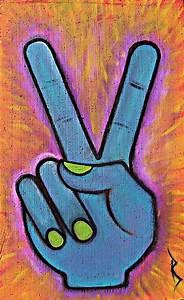 Peace Peace Peace Fingers Peace Gesture