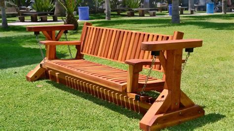 outdoor wooden glider rocker plans  description