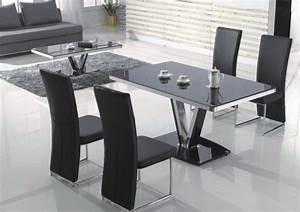 Chaise Table A Manger : chaise de table a manger table ronde de salon maisonjoffrois ~ Teatrodelosmanantiales.com Idées de Décoration