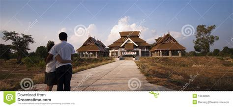 modern thai style house royalty  stock image image