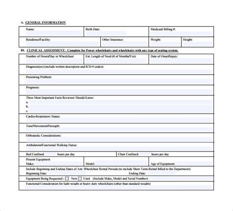 sample letter  medical necessity form