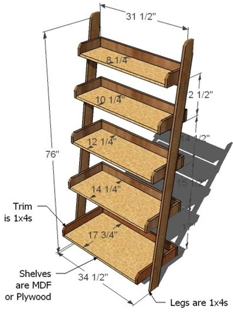 how to build a wall bookcase step by step 24 ladder bookshelf plans guide patterns