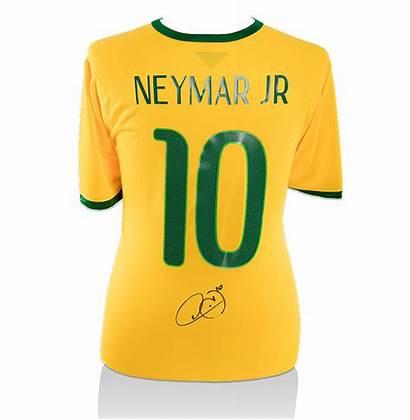 Neymar Jr Shirt Brazil Signed Jersey Autograph