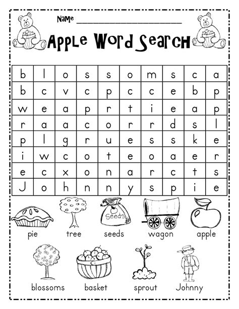 free 2nd grade word search puzzles worksheets for all