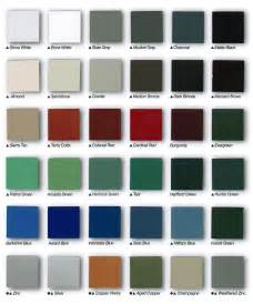 Rain Gutter Color Chart
