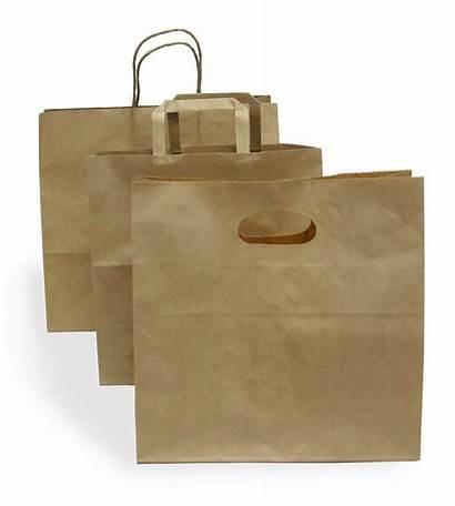 Paper Carry Bags Kraft Handle Base Wide