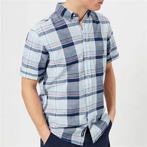 Gant Men 39 S Blue Pack Madras Short Sleeve Shirt Capri