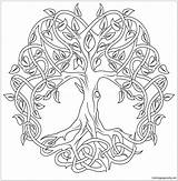 Celtic Coloring Tree Pages Mandala Printable Adult Colouring Mandalas Adults Pattern Knot Drawing Line Coloringpagesonly Trees Drawings Tattoo Bestcoloringpagesforkids Sheets sketch template