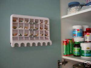 28 Day Pill & Vitamin Dispenser, Wall mount or stand alone