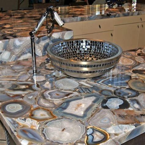 contemporary kitchen countertops semi precious gray agate semi precious gray agate
