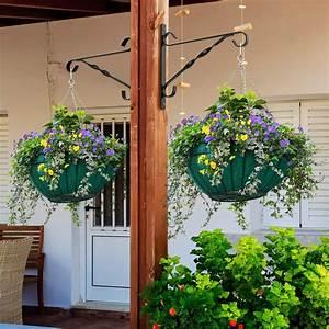 Hanging, Basket, Bracket, 10, Inch, Plant, Hooks, Metal, Outdoor, Garden, Wall, Plant, Hanger, Brackets, For