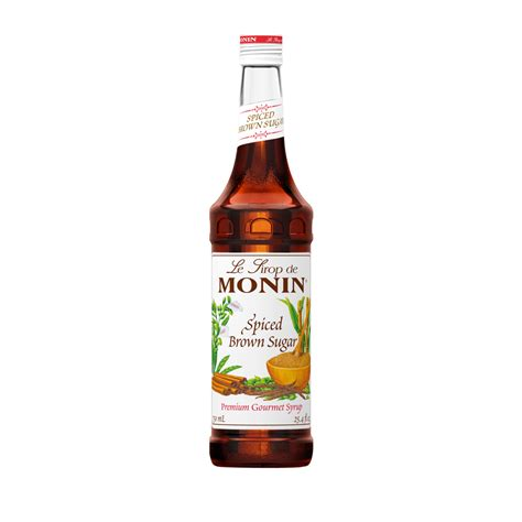 brown sugar syrup monin spiced brown sugar syrup 750 ml bottle s 1 liter bottle s baristaproshop com
