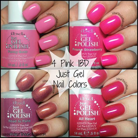 4 pink ibd just gel nail colors