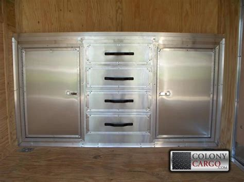 Enclosed Trailer Cabinets by Cabinet Options Bottom Cabinets American Trailer Pros