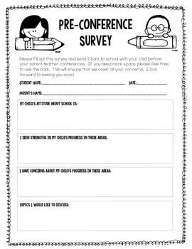 parent conference forms free printable by mandy 574 | original 1494489 2