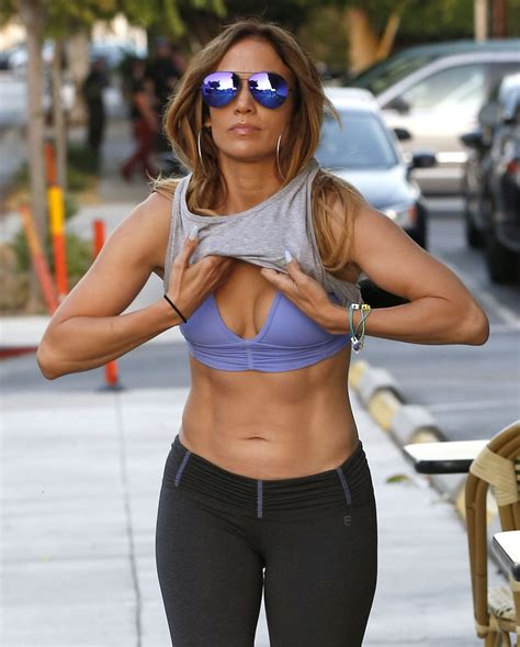 Jennifer Lopez In Sport Bra And Leggings Leaves A Gym In