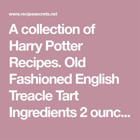 collection  harry potter recipes  fashioned