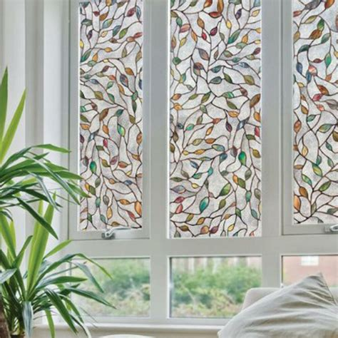 color leaves sunscreen glass window film xcm home