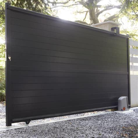 côté maison cuisine portail coulissant en aluminium jena l 350 x h 170 cm