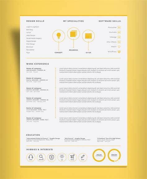 free professional 2 page resume design cv template ai