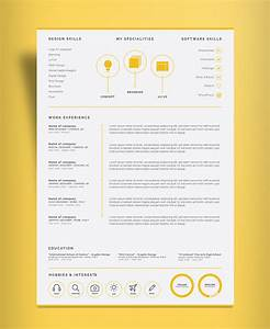 free professional 2 page resume design cv template ai With nice resume templates free