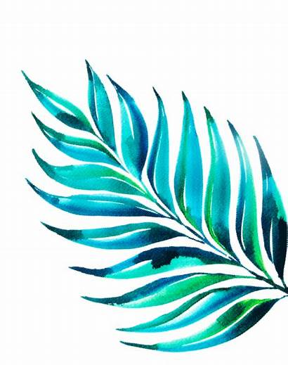 Tropical Watercolor Leaf Leave Heartmade Right