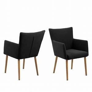 generique chaise en tissu avec accoudoirs olson gris With meuble salle À manger avec chaise salle a manger en tissu