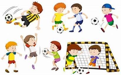 Football Playing Boys Many Vector Illustration Freepik