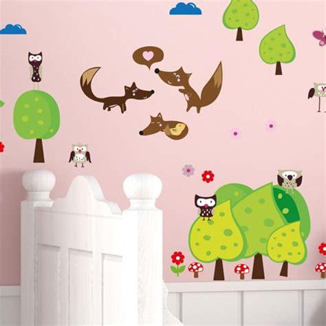 Wandtattoo Kinderzimmer Waldtiere by Wandsticker Mega Set Waldtiere