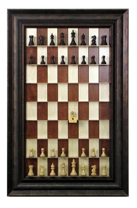 large checkers pieces maple up wall hanging chess board with