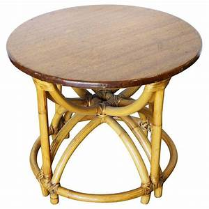 Restore Five Strand QuotHour Glassquot Rattan Coffee Table For