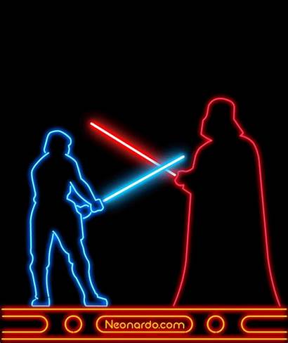 Neon Gifs Sign Animations Trippy Star Wars