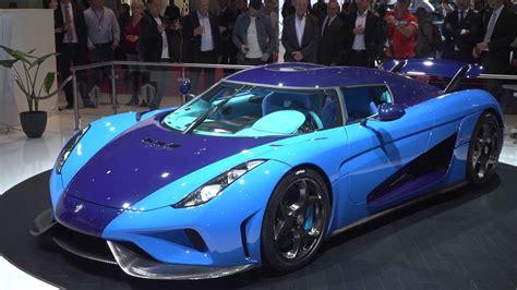 Blue Koenigsegg Regera At Geneva Motor Show